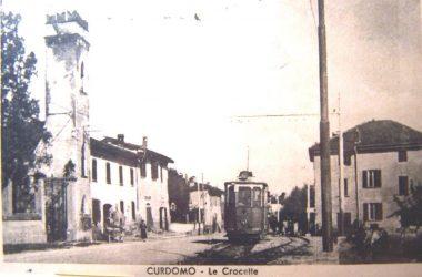 Crocette 1945 il vecchio tram Curno