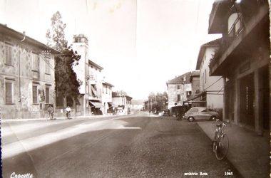 Crocette 1965 senza binari del Tram Curno