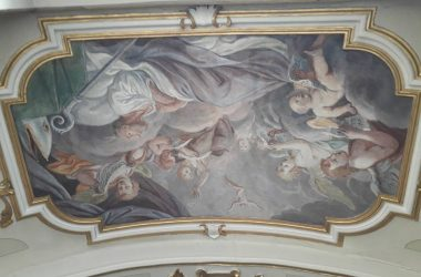 Dipinto soffitto Parrocchia di Leffe