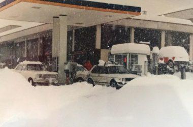 Distributore di Via Provinciale Cenate Sopra Nevicata 1985