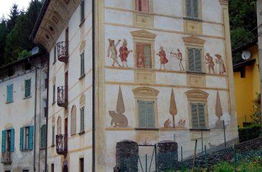 Edificio con danza macabra a Cassiglio