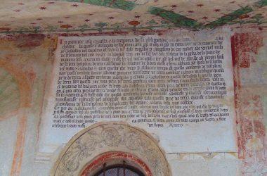Esterno scritta Oratorio disciplini Clusone