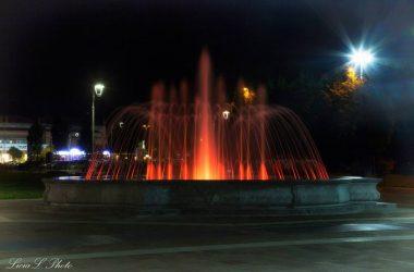 Fontana illuminata Brembate Sopra