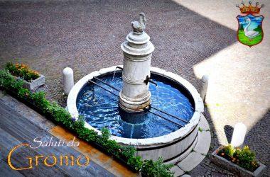 Fontana in piazza di Gromo