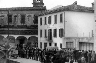 Funerale DOn Luca Patelli Foresto Sparso 1961