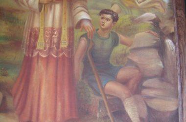 Gandellino Affresco - S. Carlo guarisce la gamba al Pastorello