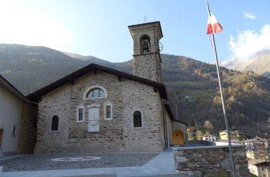 Gandellino Bergamo La chiesa, dedicata alla Natività di Maria,è risalente al 1350