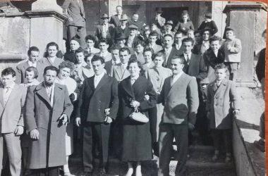 Gente di Cerete nel 1958