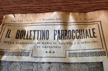 Il bollettino Parrocchiale Gazzaniga