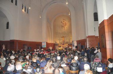Interno chiesa di Gorle