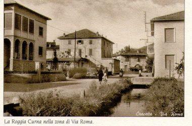 La Roggia Curna nella zona di via Roma