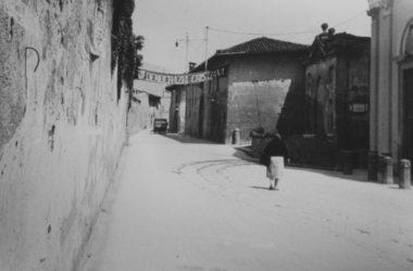 La Via Cesare Battisti Brembate Sopra anni 50