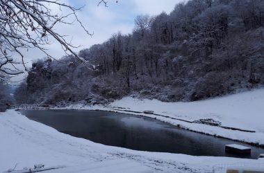 Laghetto Corrado in inverno Gandino