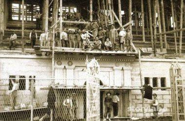 Lavori costruzione stadio Atalanta nel 1928