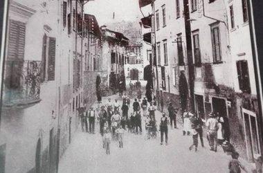 Leffe Via Papa Giovanni XXlll , all' inizio del novecento