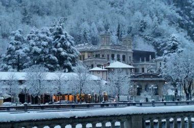 Neve al Casinò di San Pellegrino Terme