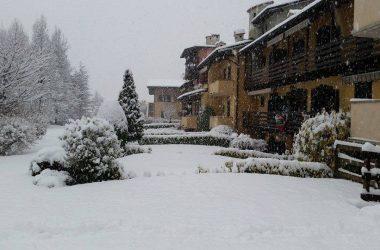 Nevicata ad Onore Bergamo