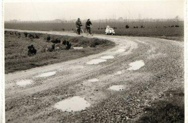 Orio al Serio, 1955 la strada che porta da Seriate ad Orio