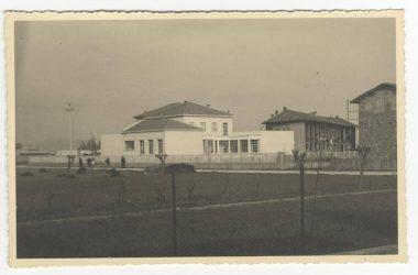 Orio al Serio. 1947 la scuola dell'infanzia vista da via Locatelli.