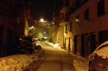 Ornica con la neve