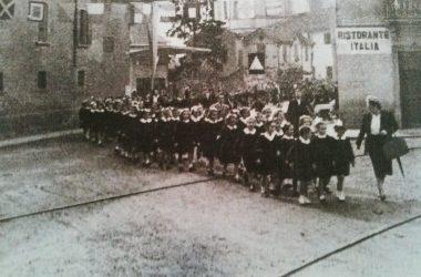 Osio Sotto scuole elementari di via libertà anno 1948