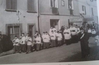 Osio Sotto vescovo mons. giuseppe piazzi negli anni 50