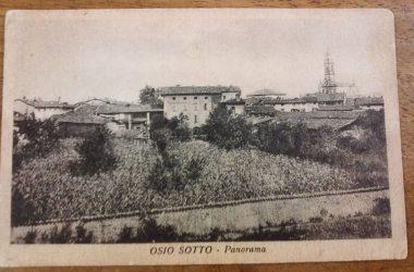 Osio Sotto via 4 novembre dove ora c'è una banca e il parco diaz