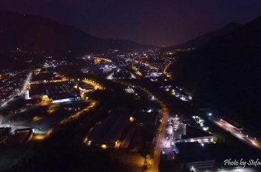 Paese di Cene di sera
