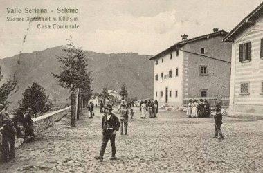 Piazzale della chiesa primi anni 900 Selvino
