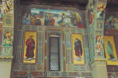Ponte Nossa - Bergamo - santuario della Madonna delle Lacrime,dipinti di Giovanni Cavalleri