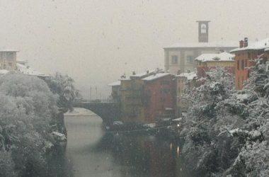 Ponte San Pietro con la neve