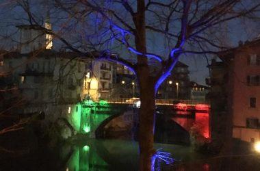 Ponte San Pietro di sera