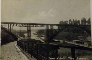 Ponte e viottolo che dalla piazza di Capriate conduceva a Crespi d'Adda