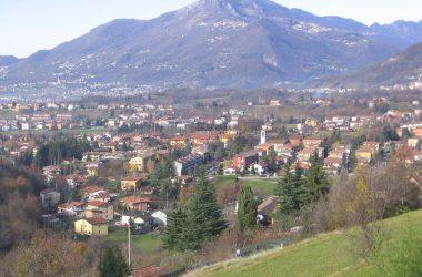 Ponteranica vista da via Pasinetti