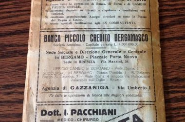 Pubblicità storica Gazzaniga