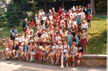Ragazzi di Casazza nel 1984