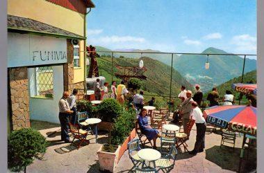 SELVINO BERGAMO CARTOLINA ARRIVO DELLA FUNIVIA DA ALBINO 1961