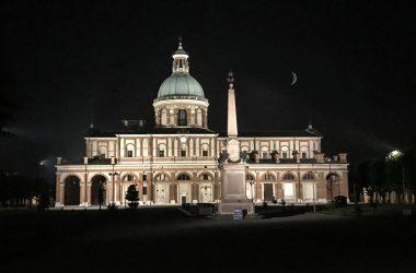 Santuario Santa Maria del Fonte Caravaggio di sera