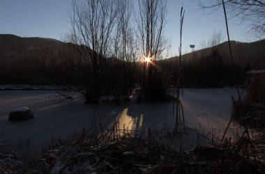 Sorge il sole sull'Oasi Saletti Nembro