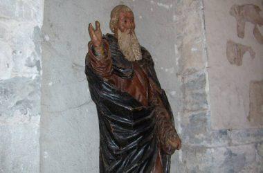 Statua lignea Chiesa di San Giorgio in Lemine Almenno San Salvatore