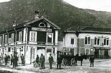 Stazione Gazzaniga nel 1800