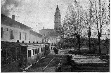 Stazione del Tranway Osio Sotto 1906