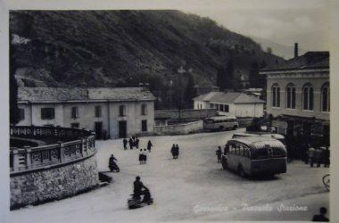 Stazione di Gazzaniga anni 50