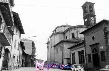 Suisio, via Belvedere, asilo e chiesa parrocchiale