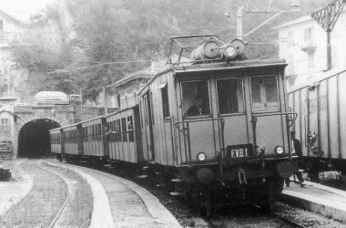 Treno storico a Ubiale Clanezzo