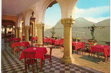 Vecchio porticato Albergo Vetta San Pellegrino Terme