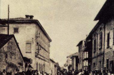 Via Roma Misano Gera d'Adda inizio secolo 900