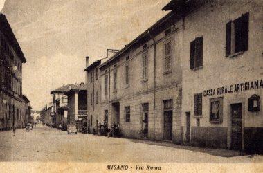 Via Roma anni 50 Misano Gera d'Adda