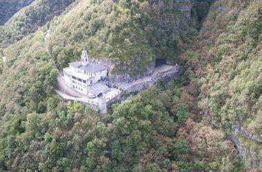 Vista Drone Santuario Cornabusa Sant'Omobono Terme