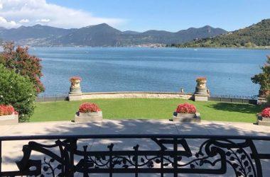 Vista Terrazzo Camino liberty 1907 nella Villa Giuseppe Faccanoni a Sarnico